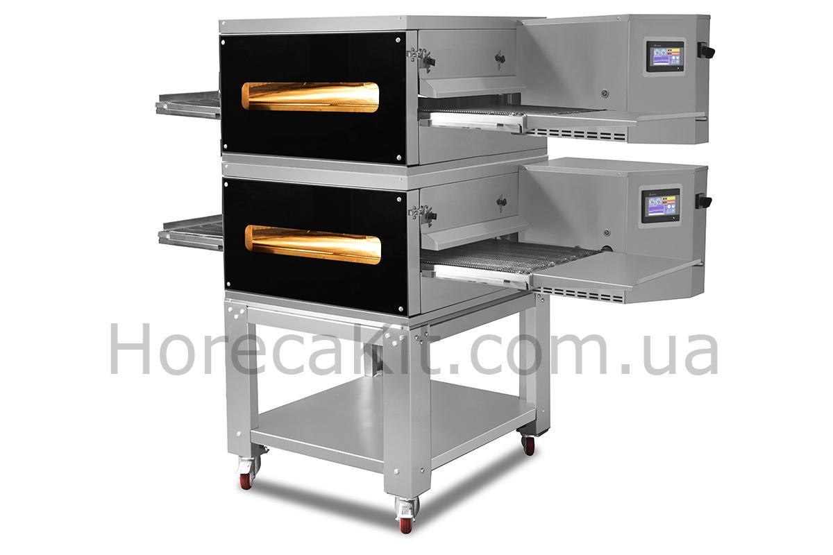 Конвейерная печь для пиццы SGS двухкамерная