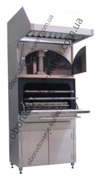 Угольная печь Хоспер с подставкой, верхниш шкафом и зонтом